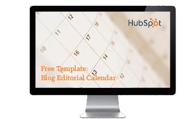 blog editorial calendar offer